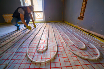 Radiant Floor Installation Photo
